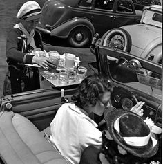 John Gutmann:  Early Drive-in Restaurant, Hollywood, 1935
