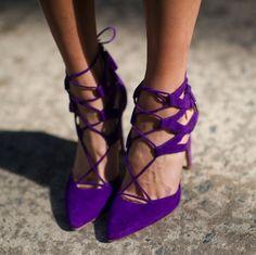 aquazzura purple heels! so cute.