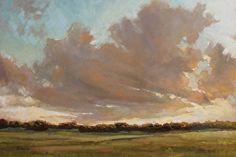 """Late Sun"" by Barbara Davis~ 20"" x 30"" Oil on Canvas"