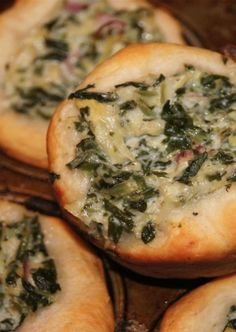 Mini Spinach & Artichoke Bread Bowls - The perfect portable appetizer recipe | Slender Kitchen