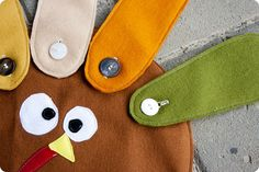 felt Thanksgiving placemat pattern