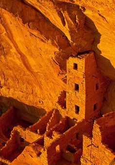in a cliff dwelling (Mesa Verde National Park)