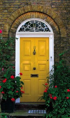 Front Door | Paint Color | Home Design | Yellow