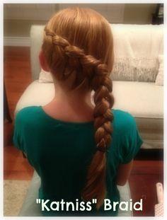"How to Make a ""Katniss"" Braid {hair tutorial}"