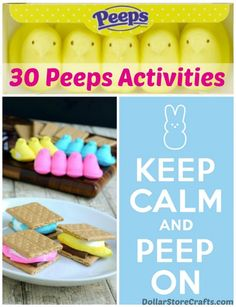 30 Ways to use up your Peeps!! Easter crafts
