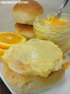 Fresh ORANGE HONEY BUTTER, easy and fabulous on Muffins, Bagels, Toast, Pancakes, etc.