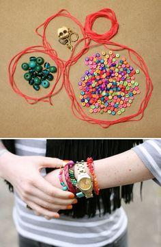 DIY: modern friendship bracelets