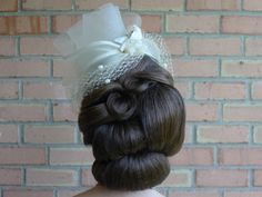 Flawless wedding hair. #vintage #style