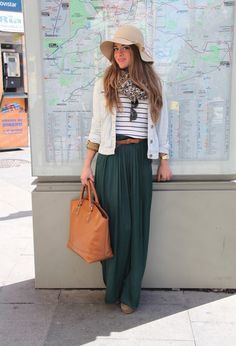 34 Fashionable Casual Combinations With Long Skirts For This Fall