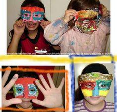 antifaces de yeso para niños fáciles: http://www.manualidadesinfantiles.org/antifaces-de-yeso/