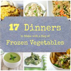 cook, frozen vegetables, veggi, food, frozen vegetable recipes, dinners, healthi, yummi, bags