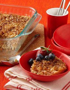 Baked Oatmeal - Recipe | http://www.quakeroats.com/