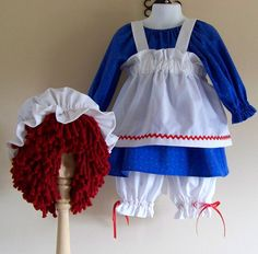 Set of Raggedy Ann and Andy Costumes Toddler by EMichniacki, $130.00