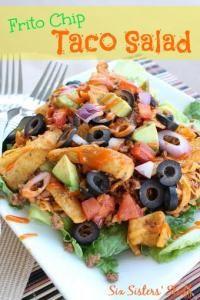 Six Sisters Frito Chip Taco Salad. We love this taco salad recipe!