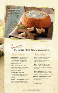 Tastefully simple bread recipes