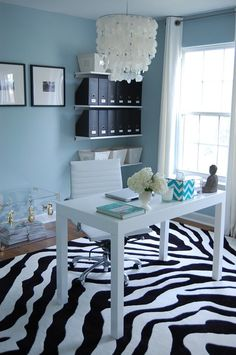 Chic blue office