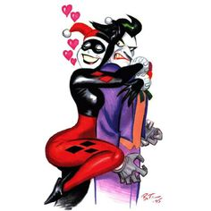 The Joker & Harley Quinn//Pinups - color/DC/Bruce Timm/ Comic Art... ❤ liked on Polyvore