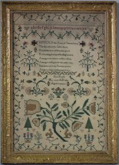 Sampler-Rose of Sharon 1836 by Ann Baylis