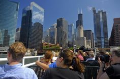 Chicago Architecture Foundation River Cruise: The CAF offers docent guided river cruises of more than 50 buildings along the Chicago River, showing how the city grew from a small back-country outpost into one of the world's most improtant crossroads in less than 100 years. $35 for the 90 minute tour. #Chicago #Tourism #Chicago_Architecture_Foundation #Architecture_River_Cruise