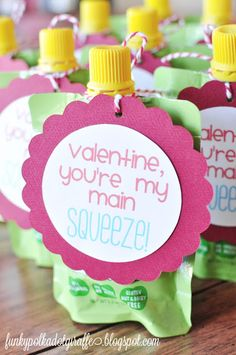 Preschool Valentines: You're My Main SQUEEZE!