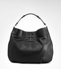 fashion, burch hobo, leather stack, purs, tori burch, bag, tory burch, stack logo, logo hobo