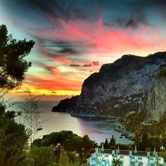 The chic island of #Capri has it all—including a magical night sky.    Photo of Hotel Villa Brunella by @ juliesoefer via Instagram