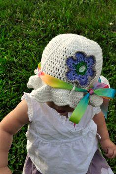 Crochet Pattern PDF  Sunhat  Beloved Flower by 5PacksCrochet, $3.75