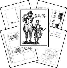 Civil War Lapbook Templates