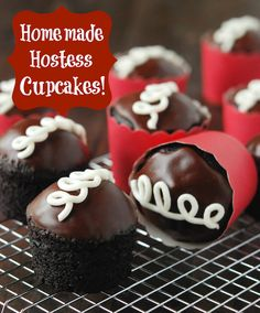 Homemade Hostess Cupcakes!  Now that they're gone..good to have this recipe!