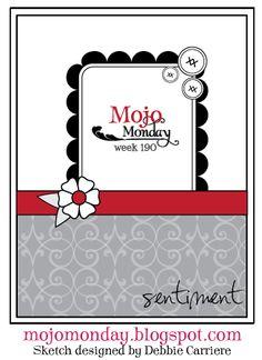 Mojo Monday sketch No. 190. #cards #card_making #sketches #crafts