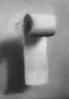 Gerhard Richter, Klorolle (Toilet Paper) 1965, 55 cm x 40 cm, Oil on canvas