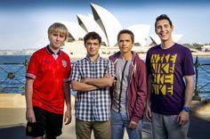 James Buckley, Simon Bird, Joe Thomas and Blake Harrison in The Inbetweeners Movie 2