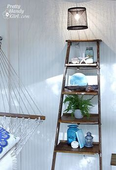 Centsational Girl » Blog Archive Guest Post: How to Build Ladder Shelves » Centsational Girl- good inspiration and tutorials