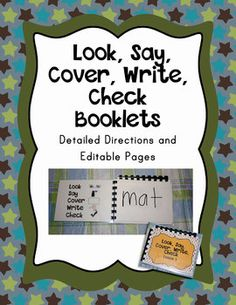 Look, Say, Cover, Write, Check Template