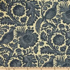 Waverly Sun N Shade Tucker Resist Chambray. The fabric for Miss Mustard Seed's Curtains.