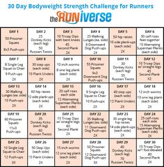 30 Day Strength Training Challenge for Runners