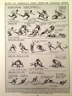 Vintage Football Print - Football Playing Guide. $20.00, via Etsy.