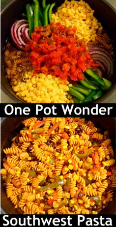 One Pot Wonder Southwest Pasta with Corn and Black Beans - I LOVE this dish. So easy, and healthy. I use whole wheat rotini.