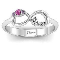 Sparkly Love Infinity Ring | Jewlr