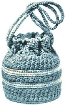 Crochet Lantern Tote Bag free pattern.