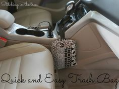 Easy Trash Bag for your Car Tutorial ~ Perfect project for some fabric scraps!!