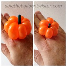 Ballon pumpkin rings