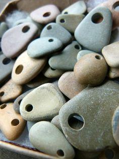hand-drilled stones via zsazsazsu