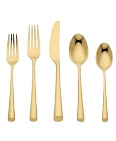 Gold flatware by Marchesa