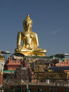 Huge Golden Buddha at Sop Ruak, Golden Triangle, Thailand, Southeast Asia Photographic Print