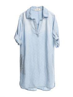 light wash denim tunic top / dress