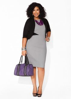 Love this Sleeveless Color Block Dress w/ shrug