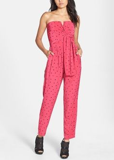 All you can do in this pink star print jumpsuit is strut!