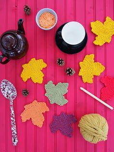 Crochet Autumn Leaves