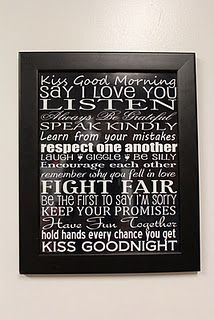 Newlywed Rules sign